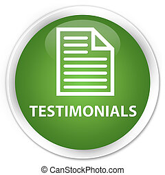 Testimonials (page icon) premium soft green round button