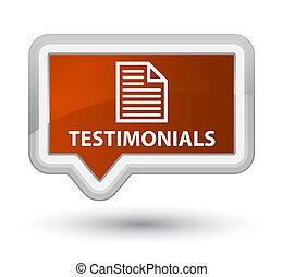 Testimonials (page icon) prime brown banner button