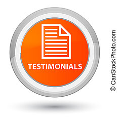 Testimonials (page icon) prime orange round button