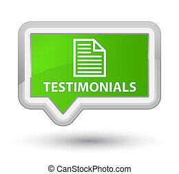 Testimonials (page icon) prime soft green banner button