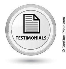 Testimonials (page icon) prime white round button
