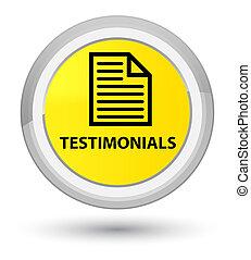 Testimonials (page icon) prime yellow round button