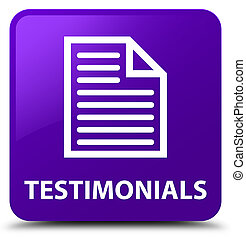 Testimonials (page icon) purple square button