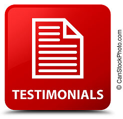 Testimonials (page icon) red square button