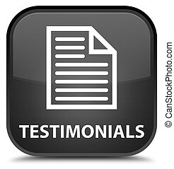 Testimonials (page icon) special black square button
