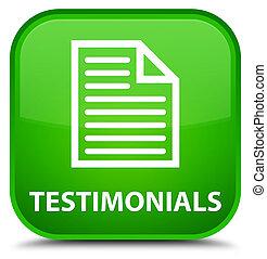 Testimonials (page icon) special green square button