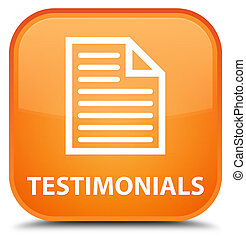 Testimonials (page icon) special orange square button