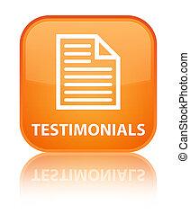 Testimonials (page icon) special orange square button