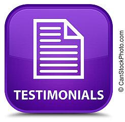 Testimonials (page icon) special purple square button