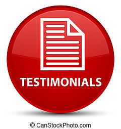 Testimonials (page icon) special red round button
