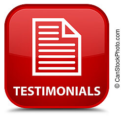 Testimonials (page icon) special red square button