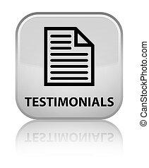 Testimonials (page icon) special white square button