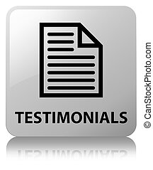 Testimonials (page icon) white square button