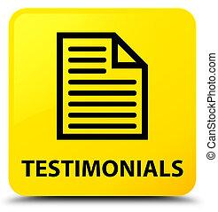Testimonials (page icon) yellow square button