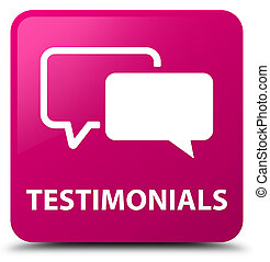Testimonials pink square button
