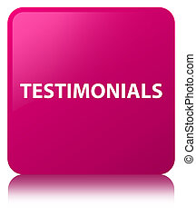 Testimonials pink square button