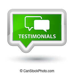 Testimonials prime green banner button