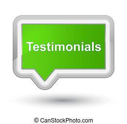Testimonials prime soft green banner button