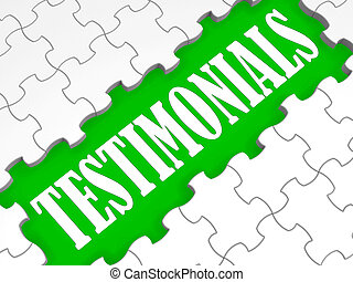Testimonials Puzzle Showing Credentials And Recommendations...