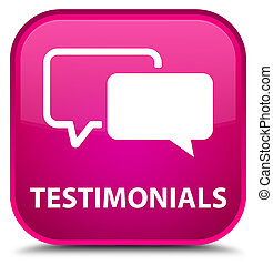 Testimonials special pink square button