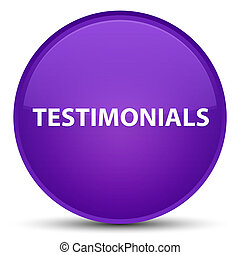 Testimonials special purple round button