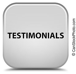 Testimonials special white square button