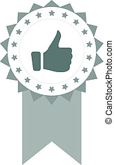Testimonials - Vector Illustration With Testimonial Symbol