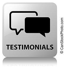 Testimonials white square button