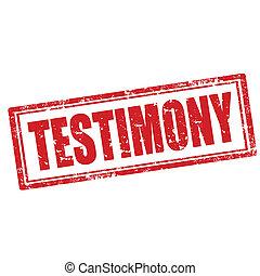 Testimony-stamp