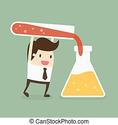 Testing And Experimentation. Business Concept Cartoon...
