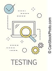 Testing concept. Internet web page usability evaluation.