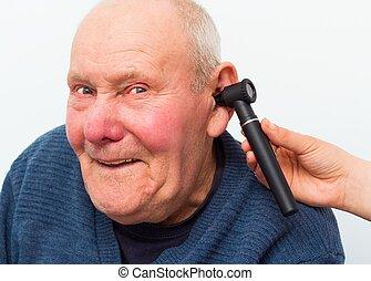 Testing Elderly Patient's Hearing With Auroscope - Elderly ...