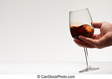 Testing red wine drink