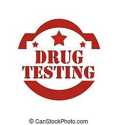 testing-stamp, droge