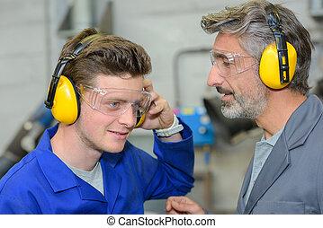 testing the earmuffs