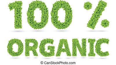 testo, 100%, organico, congedi verdi