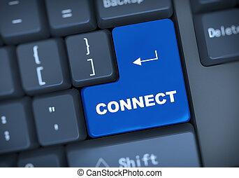 testo, 3d, collegare, tastiera