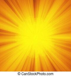 testo, astratto, giallo, luminoso, striscia, tuo, rays., raggio, dio, lampo, scoppio, blast., arancia, hyperspeed, esplosione, copyspace, deformazione, illustrazione, fondo, luce, sole, o