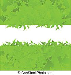 testo, astratto, vettore, sfondo verde, posto