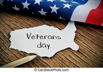 testo, bandiera, giorno veterani, ci