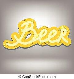 testo, birra, bolla