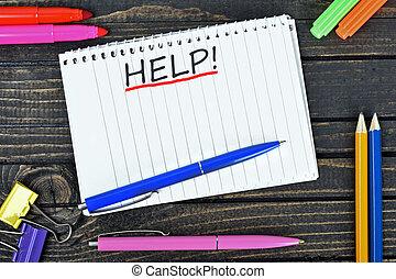 testo, blocco note, aiuto