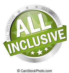 testo, bottone, tutto, inclusivo