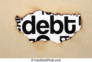 testo, buco, carta, debito