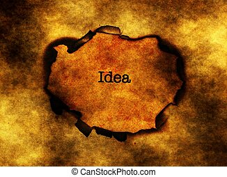 testo, buco, carta, idea