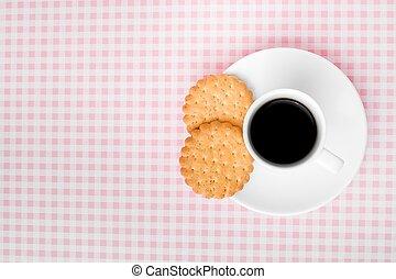 testo, caffè, biscotti, spazio