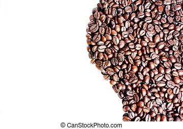 testo, caffè, onda, fagioli, spazio