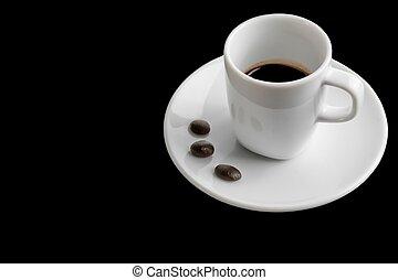 testo, caffè, spazio, fagioli, tazza