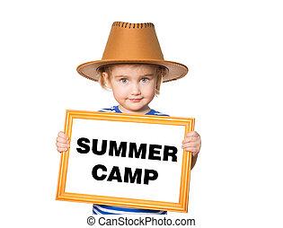 testo, campeggiare, estate