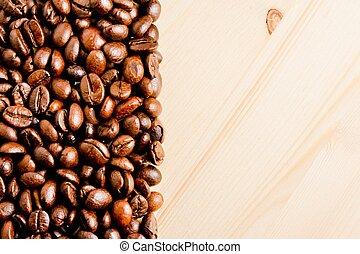 testo, chicco di caffè, spazio